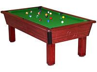 Mahogany Square Leg Pool Table (7x4 Slate Bed PoolTable)