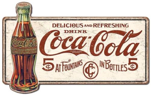 """COCA COLA OVER SIZED PREMIUM TIN SIGN EMBOSSED UV PROTECTED 28"""" W 17,5"""" H .25"""" D"""