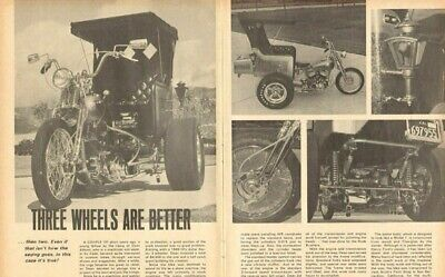 1969 Three Wheels Are Better Than Two 3-Page Vintage Motorcycle