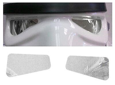 Spiegel Film Gläser in Farbe grau für Star Wars Stormtrooper Kostüm Helme (Silber Stormtrooper Kostüm)