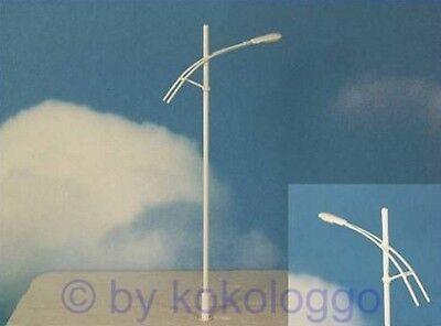 S237 - 5 Stück moderne Straßenlampen 1-flammig 12,5cm weiß Peitschenleuchten