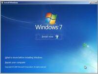 Windows 7 Re-installation Install DVD Disk 32 & 64 Bit All Versions Format Repair