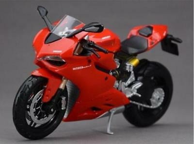 Maisto 1/12 Diecast Red Ducati 1199 Motorcycle Model Motorbike Vehicle Display