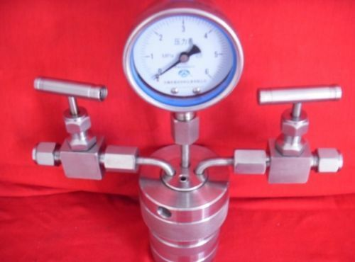 Hydrothermal synthesis Autoclave Reactor vessel + inlet outlet gauge 25ml 6Mpa T