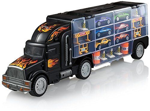 toy truck transport car carrier 2 sided