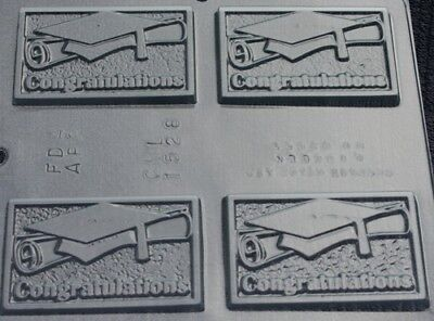 GRADUATION CONGRATULATIONS CARD CHOCOLATE CANDY MOLD DIY PARTY FAVORS USED (Diy Graduation Party Favors)