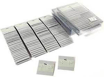 300 Plain Gray Earring Hanging Cards Jewelry Display 2