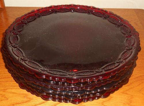 Ruby Red Plates Ebay