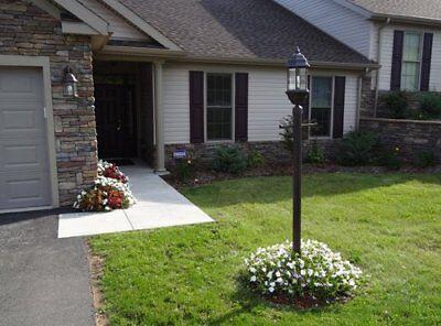 (7ft Black Outdoor Post Lamp Pole Driveway Lighting Garden Porch Yard Fixture )