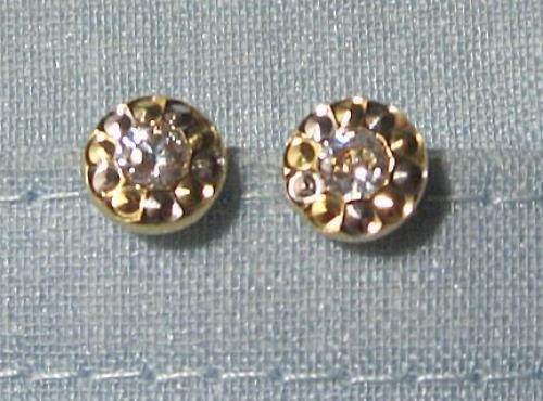 14K Gold CZ Cubic Zirconia  Earrings   1.3 grams