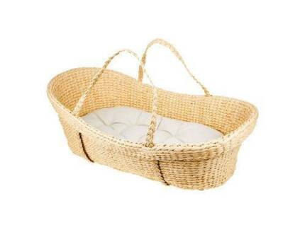 NEW Natural Moses Basket with Tetra Organic Mattree Largs Bay Port Adelaide Area Preview