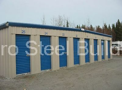 Duro Steel Mini Self Storage 10x60x8.5 Metal Prefab Building Structures Direct