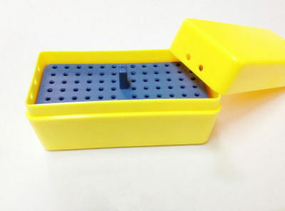 72 Holes Dental Endo Box For Sterilize Reamer Files Yellow 135 Uperization