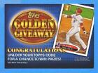 Topps Golden Giveaway Code Cards
