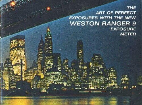 Weston Ranger 9 Exposure Meter Instruction Manual
