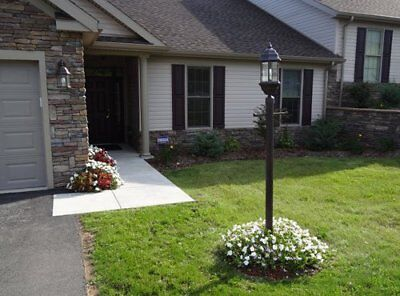 (7' Black Post Light Pole Outdoor Street Home Light Post Lighting Lamp Commercial)