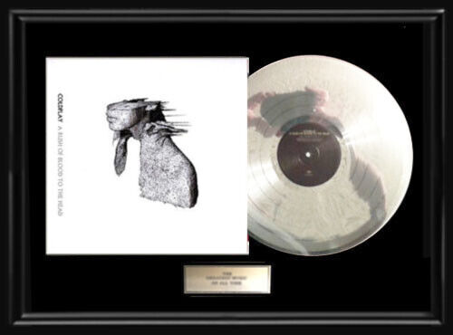 COLDPLAY RUSH OF BLOOD TO THE  HEAD WHITE GOLD SILVER PLATINUM TONE RECORD LP