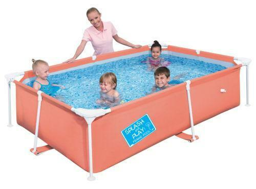 Framed swimming pools ebay for Plastic swimming pool garden