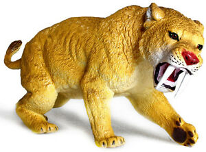 AAA 35000 Large Saber Tooth Tiger Prehistoric Smilodon Model Toy Replica - NIP