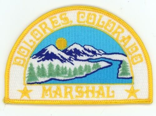 DOLORES MARSHAL COLORADO CO COLORFUL PATCH POLICE SHERIFF