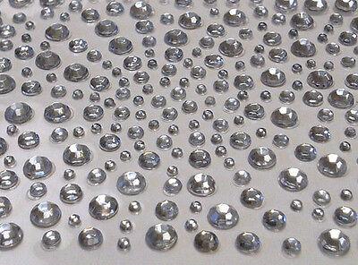 CraftbuddyUS 325 Clear Diamante Stick on Rhinestone Gems 4 Craft, Card  Wedding (Gem Stick)