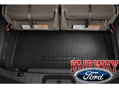 11 thru 19 Explorer OEM Ford 3rd Row Black Cargo Area Protector Mat Liner NEW ()
