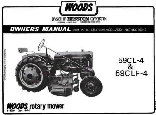 Woods Mower Manual Ebay