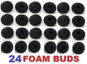 24 Pack Foam Earbud Earpad Ear Bud Pad Replacement Sponge Covers for Earphone
