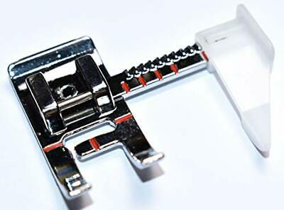Sewing Machine Presser Foot with Adjustable Guide. Fits Low Shank Home Machines.