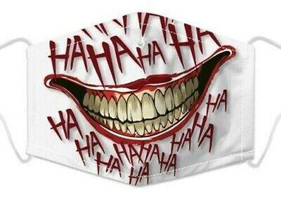 Wiederverwendbar Joker Gesicht Halb Maske Filter Mode Schutz Mund Abdeckung UK