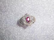 10K Ruby Diamond Ring