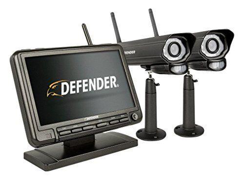 Defender PhoenixM2 4-Channel, 2-Camera Indoor/Outdoor Wireless 640x480 4GB DVR Security System Black PHOENIXM22C