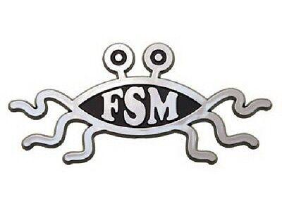 Flying Spaghetti Monster Emblem - Flying Spaghetti Monster Raised Chrome-Like Finish Car Emblem FSM Pastafarian