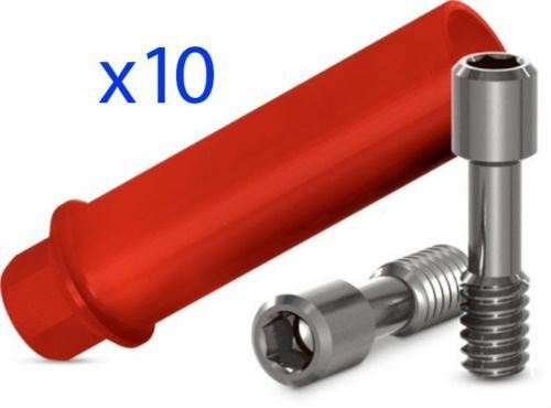 10 X Plastic Castable Abutment for Dental Implant With Hex Plus Screw UCLA type