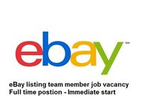 Website / eBay listings team sales member