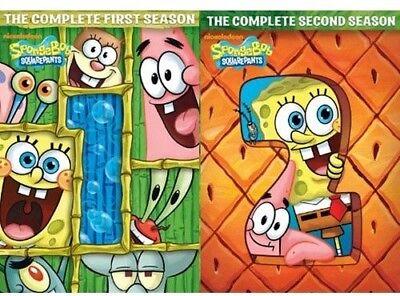 Spongebob Squarepants  Season 1 And 2  New Dvd  2 Pack