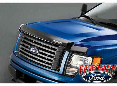 09 thru 14 F-150 OEM Genuine Ford Parts Smoke Hood Deflector Bug Shield NEW!