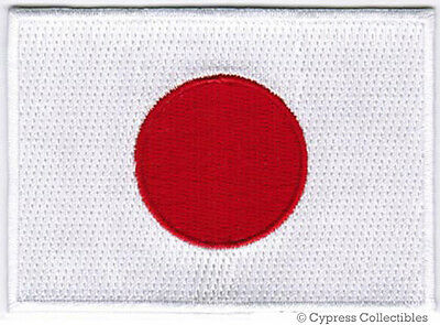 Japan Patch (JAPAN FLAG embroidered iron-on PATCH JAPANESE EMBLEM applique Nippon-koku)