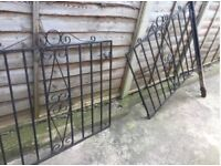 Pair/ Driveway iron gates with posts