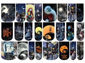 ... SLIDE NAIL ART DECALS * NIGHTMARE BEFORE CHRISTMAS * FULL NAIL COVERS