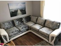 FREE FOOTSTOOL with Scs new velvet corner couch