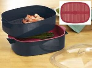 NEW - Tupperware Oval Microwave Cooker Steamer