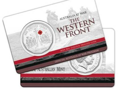 Australia At War - The Western Front 50c Coin - POSTAGE AVAILABLE Maryborough Fraser Coast Preview