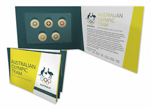 PRE ORDER - 2016 $2 Australian Olympic Team Coloured Coin Set Collection - UNC