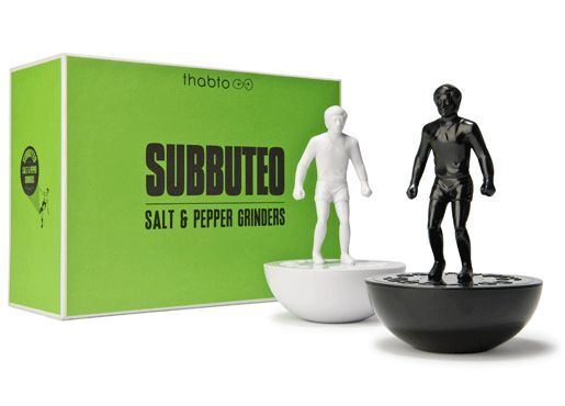 Subbuteo SALT AND PEPPER GRINDERS by Thabto