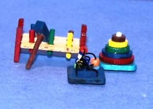 Dollhouse Miniature Baby Toys Kit with 3 Toys - New - 1:12 Scale