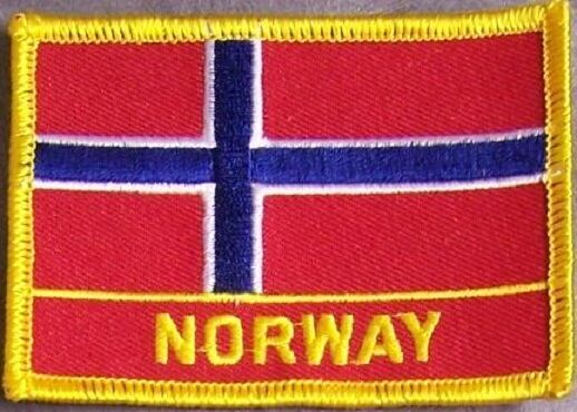 Embroidered International Patch National Flag of Norway NEW flag