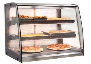 COMMERCIAL HOT FOOD DISPLAY, PIZZA FOOD WARMER, SHOWCASE, HEATED DISPLAY CASE, GLASS MERCHANDISER, HOLDING CABINET