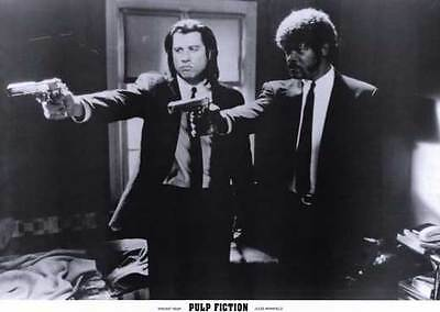 Pulp Fiction Movie Promo Poster I John Travolta Samuel L  Jackson Uma Thurman