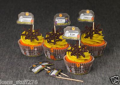 Halloween Cupcake Liners & Picks , Good Cook Sweet Creations, Graveyard Scene (Halloween Cupcake Liner)